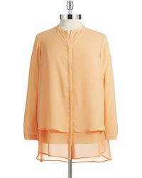 DKNY Plus Buttondown Blouse - Lyst