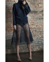 Katie Ermilio - Netted Lace Corseted Swing Skirt - Lyst