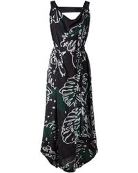 Vivienne Westwood Anglomania Tigris Printed Dress with Cut Out Detai - Lyst