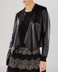 BCBGMAXAZRIA Jacket - Madilyn Faux Leather Wrap - Black