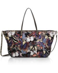 Valentino Butterfly Leather-Trimmed Nylon Tote - Lyst