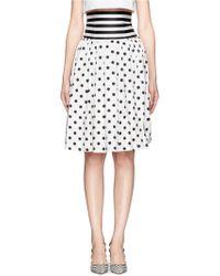 Helen Lee - Polka Dot Pleat Skirt - Lyst