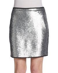 Sachin & Babi Sequin Mini Skirt - Lyst