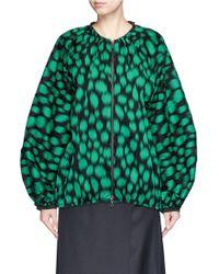Lanvin | Leopard Print Cotton Crepe Flute Bomber Jacket | Lyst
