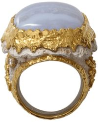 Victor Velyan - Blue Lace Agate Ring - Lyst