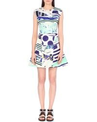 Kenzo Printed Satin Dress - For Women - Lyst