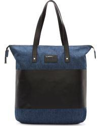 Diesel Blue and Black Denim Blockin Tote Bag - Lyst