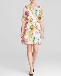Kut From The Kloth Floral Print Shirt Dress - Lyst