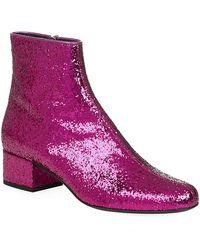 Saint Laurent Glitter Babies 40 Ankle Boots - Lyst