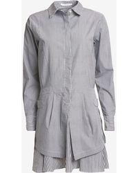 10 Crosby Derek Lam Exclusive Striped Poplin Shirt Dress - Lyst
