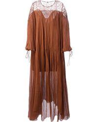 Chloé Oversized Draped Dress - Lyst