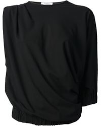 Givenchy Draped One Sleeve Blouse - Lyst