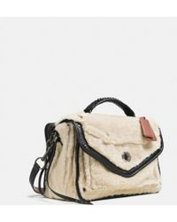 Coach Rhyder Messenger in Shearling - Lyst