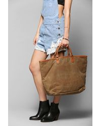 Tk Garment Supply - Waxed Canvas Tote Bag - Lyst