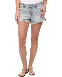 Free People Runaway Cutoff Denim Shorts - Lyst