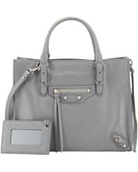 Balenciaga Papier A4 Mini Leather Tote Bag - Lyst