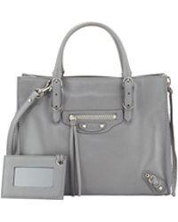 Balenciaga Papier A4 Mini Leather Tote Bag - Lyst