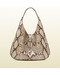 Gucci Jackie Soft Python Hobo - Lyst