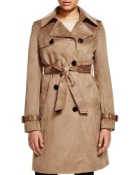 Via Spiga - Faux-suede Double-breasted Trench Coat - Lyst