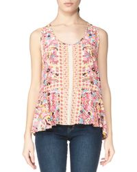 Antik Batik Short Sleeve Top - Rosie1Top - Lyst