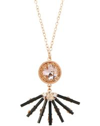 Vickisarge - Cosmos Crystal Gold-Plated Necklace - Lyst