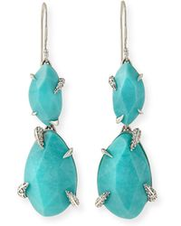 Alexis Bittar Fine - Turquoise Double-drop Earrings - Lyst