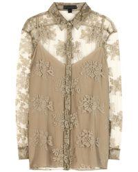Burberry Prorsum Lace Appliqué Mesh Shirt - Lyst