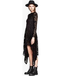 H&M Long Lace Dress - Lyst