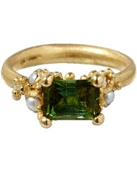 Ruth Tomlinson - Gold Tourmaline Ring - Lyst