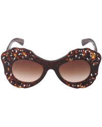Dolce & Gabbana Spain & Sicily Acetate Sunglasses brown - Lyst