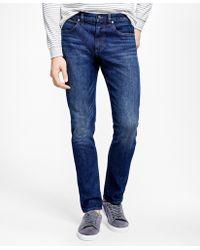 Brooks Brothers   901 Slim Fit Denim Jeans   Lyst