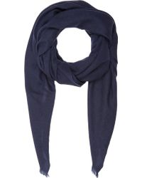 Barneys New York Blue Cashmere Scarf - Lyst