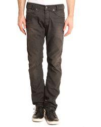 Diesel Destroy Lakop Black Slim Fit Jeans - Lyst