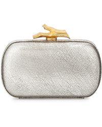 Diane Von Furstenberg Lytton Metallic Leather Minaudiere - Lyst