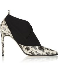 Reed Krakoff Anaconda and Neoprene Ankle Boots - Lyst