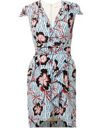 Matthew Williamson Climbing Hibiscus Silk Wrap Dress - Lyst