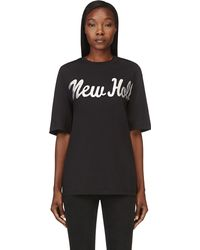 3.1 Phillip Lim Black Iridescent New Hollywood City T_shirt - Lyst