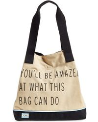 TOMS - 'one For One' Cotton Blend Tote - Lyst