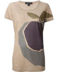 Burberry Prorsum Plum Print T-shirt - Lyst