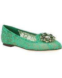 Dolce & Gabbana Cindy Lace Flat - Lyst