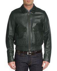 Burberry London Rushden Leather Bomber Jacket - Lyst