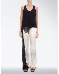 JOSEPH Paint Print Pyjama Trouser - Black