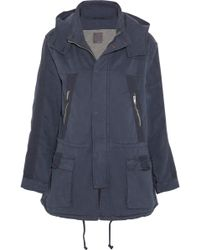 Lot78 - Washed Stretch-Cotton Twill Parka - Lyst