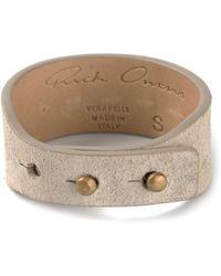 Rick Owens Stud Fastening Bracelet - Lyst