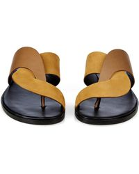 Pierre Hardy - Twisted Crossover Leather Slides - Lyst