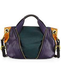 orYANY Lian Small Zip Leather Satchel Bag teal - Lyst