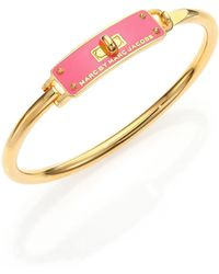 Marc By Marc Jacobs Enameled Logo Bangle Bracelet - Lyst