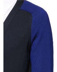 Alexander McQueen   Contrast Sleeve Wool Cardigan   Lyst