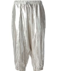 Y-3 Cropped Metallic Sweatpants - Lyst