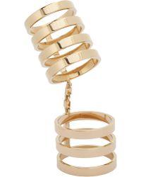 Repossi - Gold Seven-Band Berbère Cage Ring - Lyst